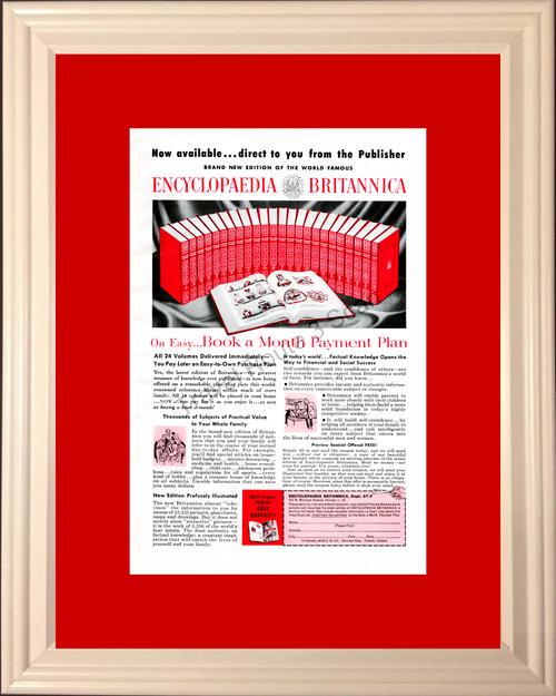 1957 57 Encylopaedia Britannica Encyclopedia Vintage Ad