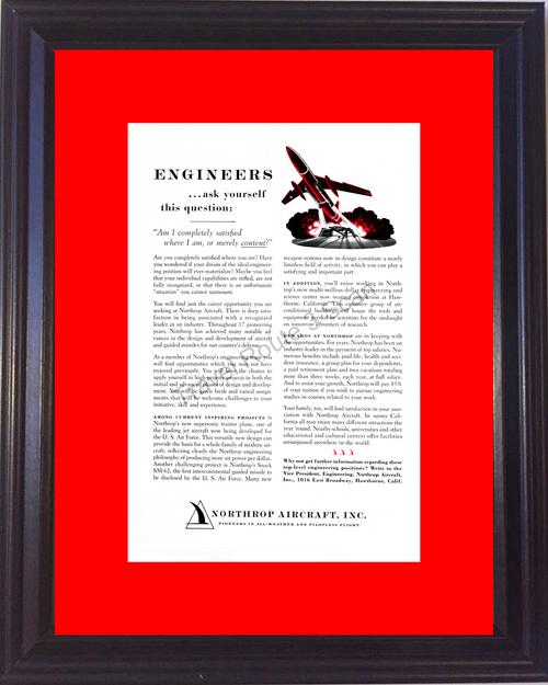 1957 57 Northrop Aircraft Inc Airplane Air Plane Engineers Help Wanted Vintage Ad