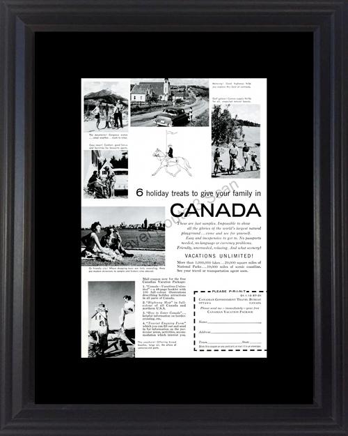 1957 57 Canada Canadian Travel Bureau Vacation Vintage Ad