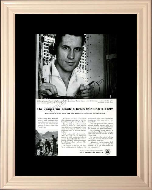 1957 57 Bell Telephone System Boy Scouts Phone Ansel Adams Photographs Vintage Ad