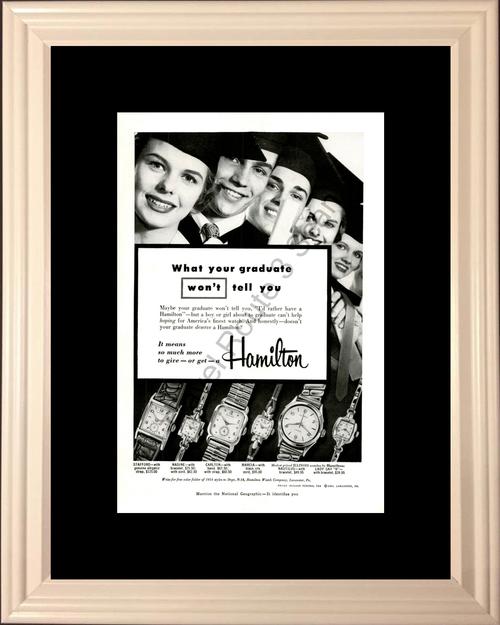 1954 54 Hamilton Watch Graduation Vintage Ad