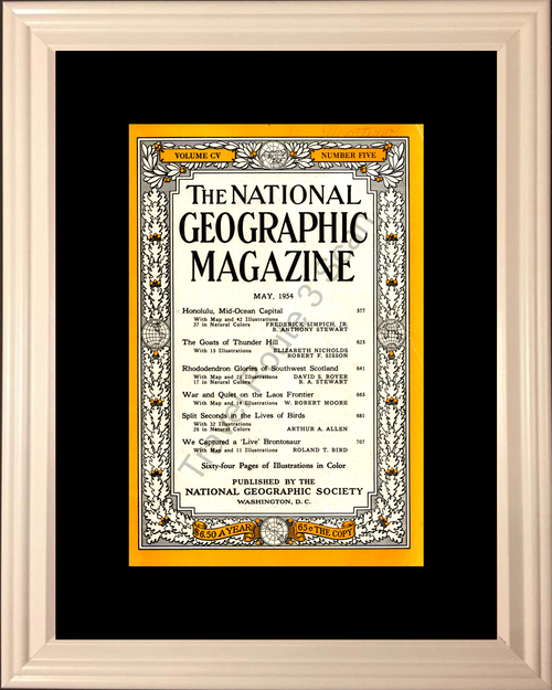1954 54 May National Geographic Cover Volume CV – Number Five