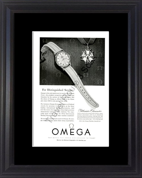 1954 54 Omega Globemaster Chronometer Watch Timepiece Vintage Ad