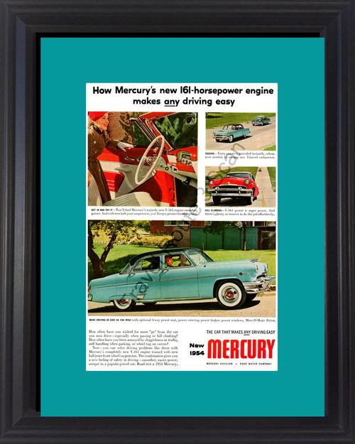 1954 54 Mercury Monterey Sun Valley Merc-O-Matic V-161 Vintage Ad