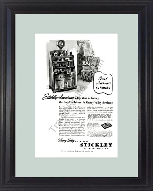 1954 54 Stickley American Dutch Cherry Valley Furniture Vintage Ad
