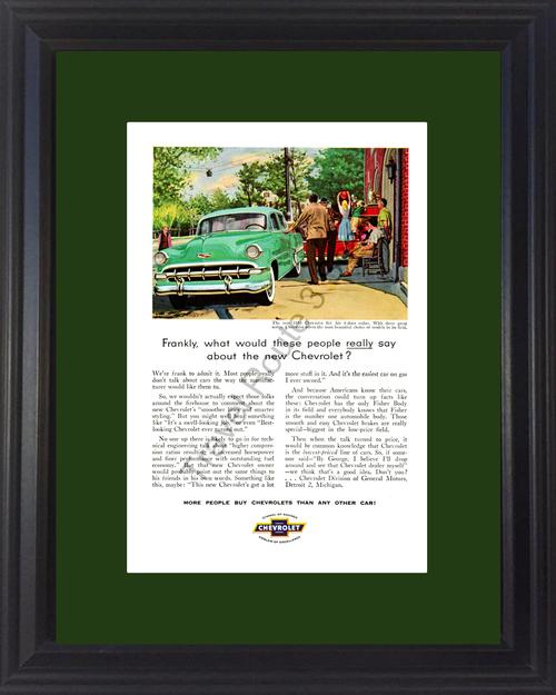 1954 54 Chevrolet Bel Air 4-Door Sedan Chevy Vintage Ad