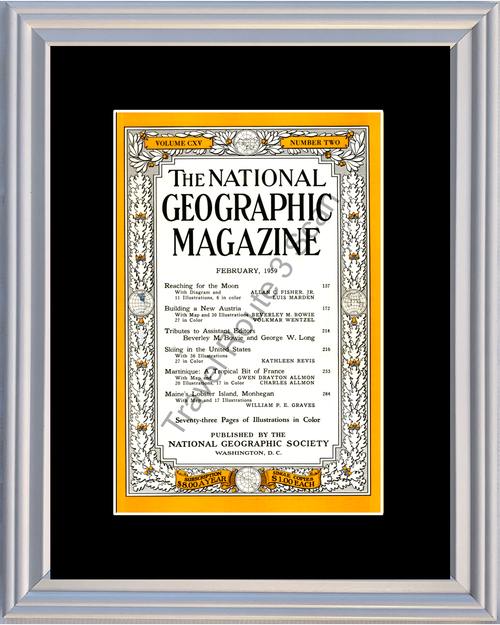1959 59 February National Geographic Magazine Cover Volume CXV - Number Two