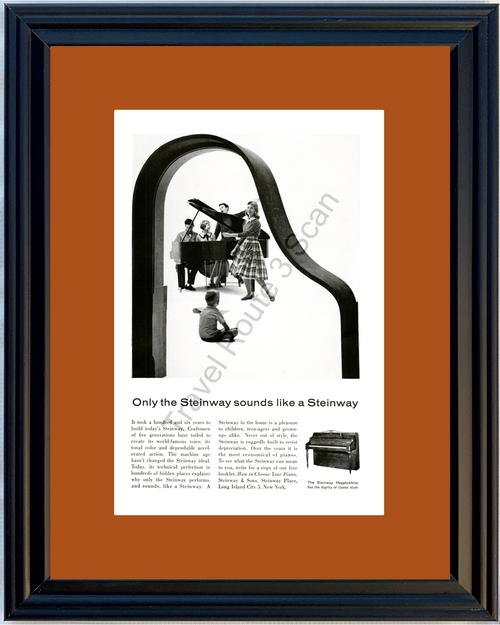 1959 59 Steinway Piano Hepplewhite Vintage Ad