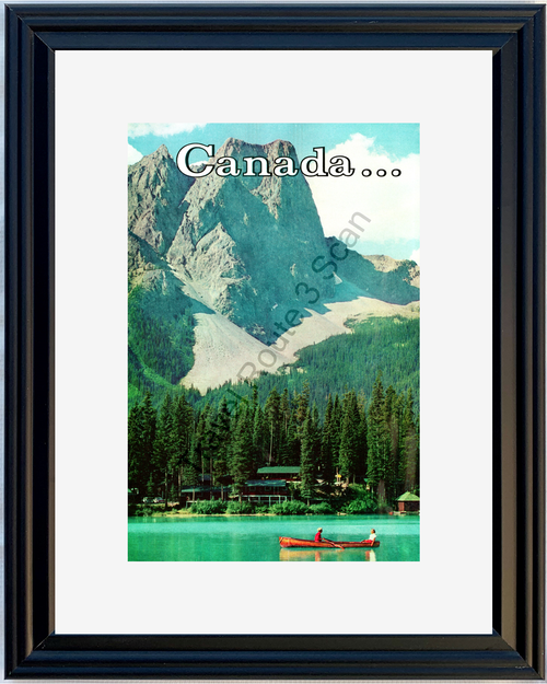 1959 Canada National Parks Vintage Ad Mountain Lake Canoe Travel 59 *You Choose Frame-Mat Colors-Free USA S&H*