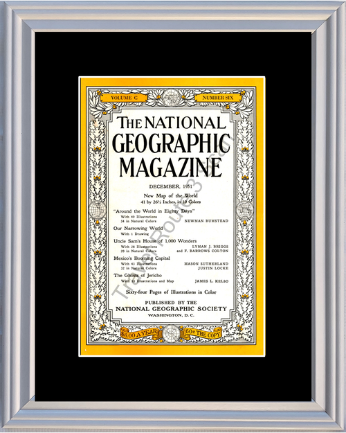 1951 51 December National Geographic Cover Volume C - Number Six