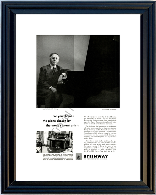 1951 51 Steinway Hepplewhite Artur Rubinstein Instrument of the Immortals Vintage Ad