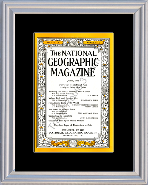 1952 52 June National Geographic Cover Volume CI - Number Six