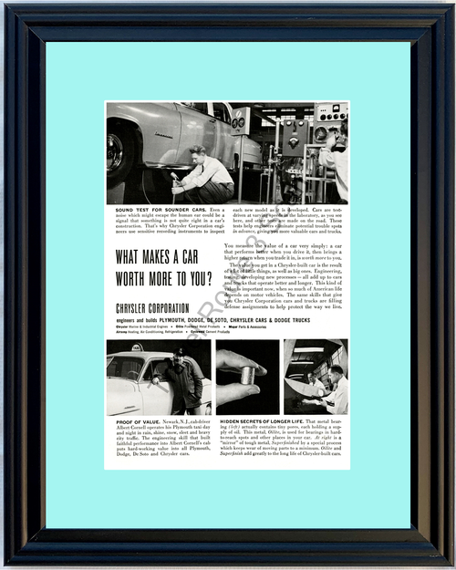 1952 52 Chrysler Plymouth Dodge De Soto Truck Engineering Testing Vintage Ad