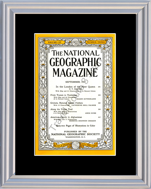 1953 53 September National Geographic Magazine Cover Volume CIV - Number Three