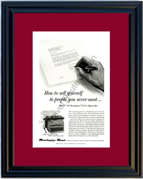 1953 53 Remington Rand Electric Typewriter Vintage Ad