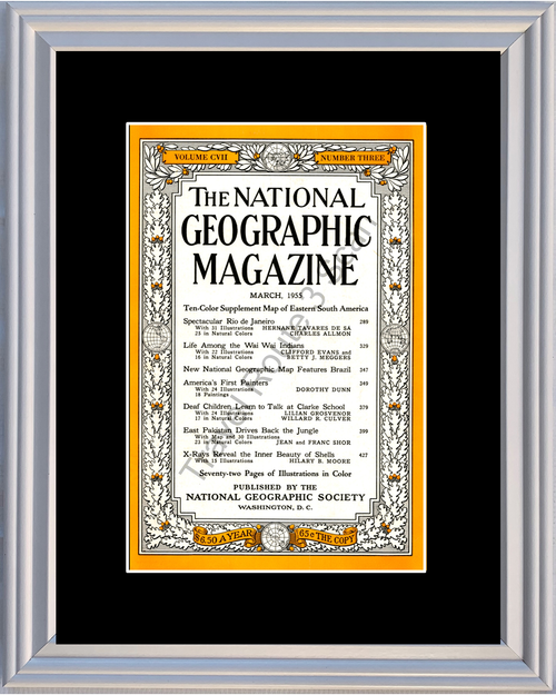 1955 55 March National Geographic Magazine Cover Volume CVII - Number Three