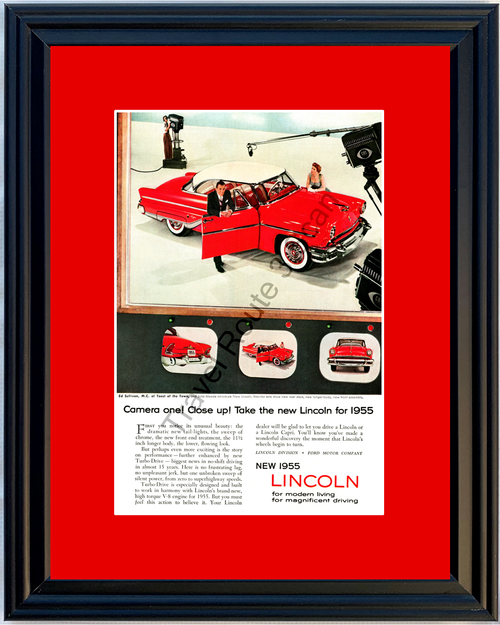 1955 Lincoln Capri Ed Sullivan Vintage Ad Julia Meade Toast of the Town 55 *You Choose Frame-Mat Colors-Free USA S&H*
