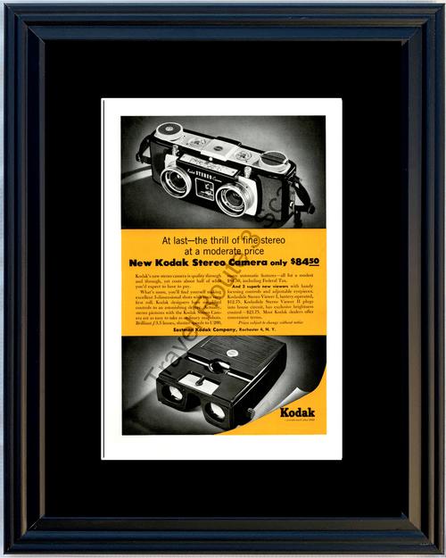 1955 55 Eastman Kodak Stereo Camera Kodaslide Viewer Vintage Ad