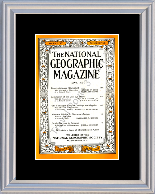 1956 56 May National Geographic Magazine Cover Volume CIX - Number Five