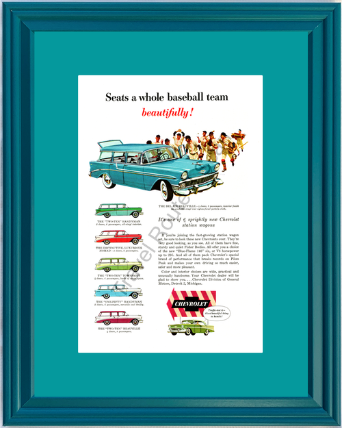 1956 56 Chevrolet Chevy Station Wagon Bel Air Beauville Nomad 210 Townsman 150 Handyman Vintage Ad