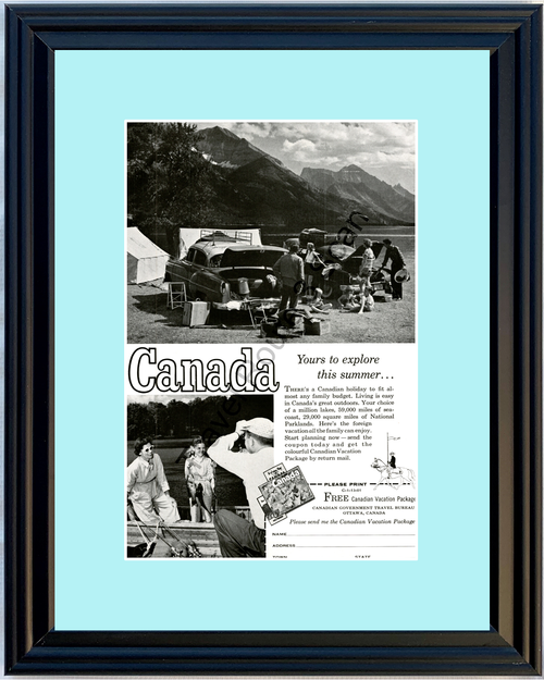 1958 Canada Canadian National Parks Vintage Ad Parklands Vacation Travel 58 *You Choose Frame-Mat Colors-Free USA S&H*