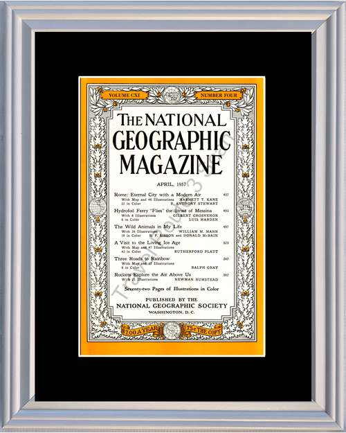 1957 57 April National Geographic Cover Volume CXI - Number Four