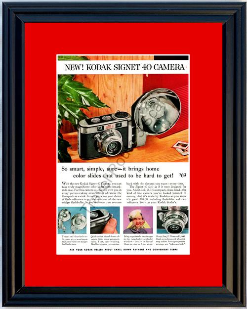 1957 57 Kodak Signet 40 Camera Photo Picture Flashbulb Vintage Ad 1 of 2