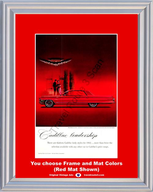1962 62 Cadillac Sedan de Ville Jeweled V Crest Rubies Diamonds Van Cleef Arpels Vintage Ad
