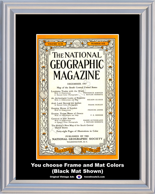 1947 47 December National Geographic Magazine Cover Volume XCII - Number Six