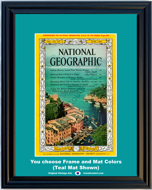 1963 63 National Geographic Magazine Cover Volume 123 - Number 6