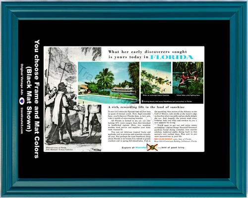 1955 55 Florida Beach Fishing Spanish Bettmann Archives Vacation Travel Vintage Ad