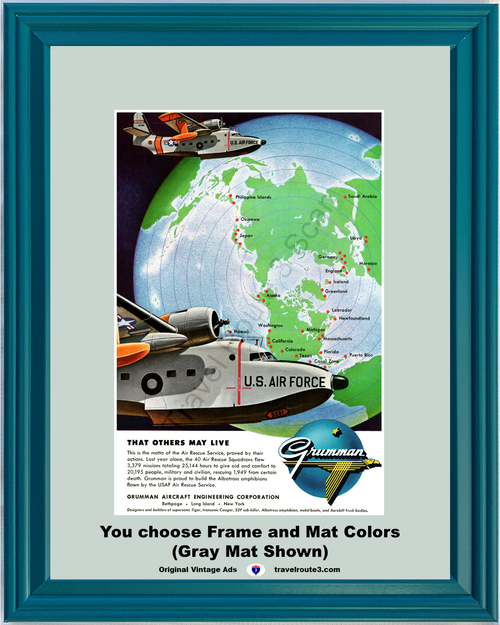 1955 55 Grumman That Others May Live U.S. Air Force Aircraft Airplane Vintage Ad