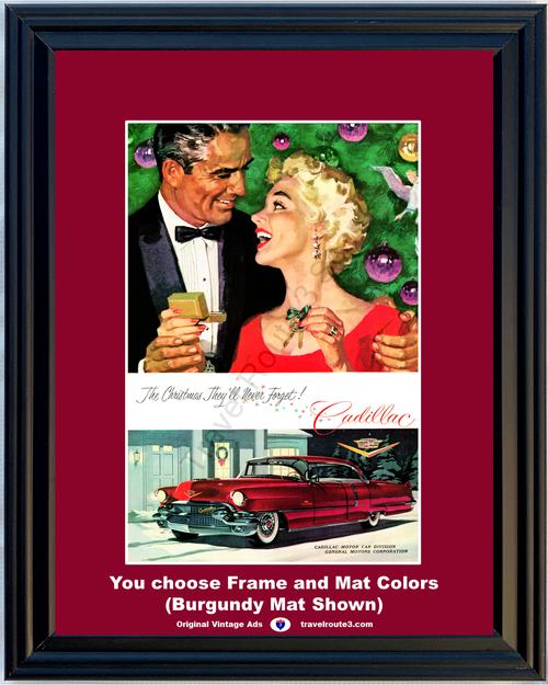 1956 56 Cadillac Sedan de Ville Christmas Gift 1955 Vintage Ad