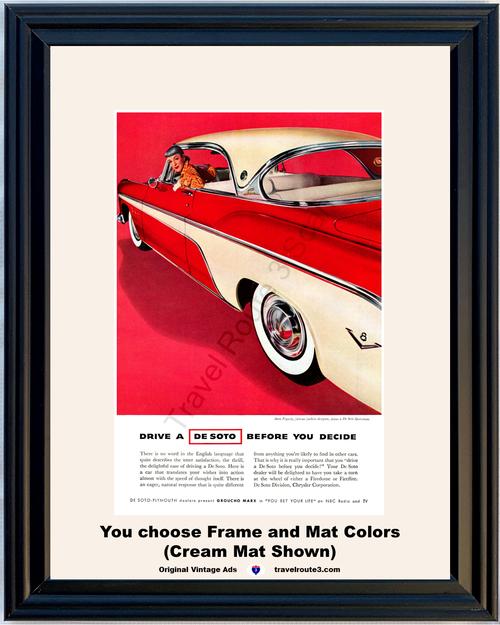 1955 55 De Soto Sportsman 2 Door Hardtop Firedome Fireflite Designer Anne Fogarty Vintage Ad