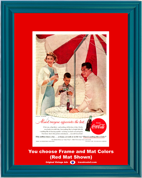 1955 55 Coca Cola There's Nothing Like a Coke Ice Cold NBC Goldworm Costumes Vintage Ad