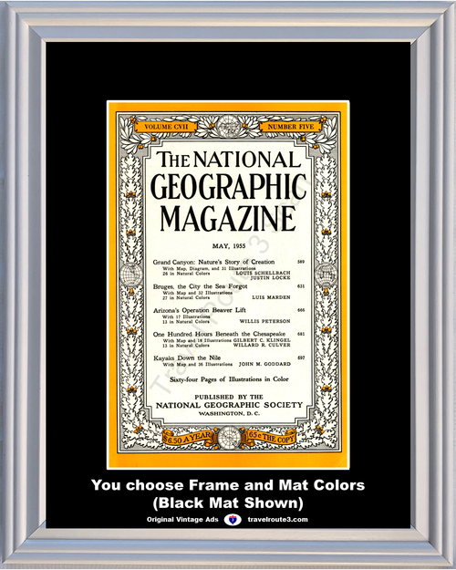 1955 55 May National Geographic Magazine Cover Volume CVII - Number Five