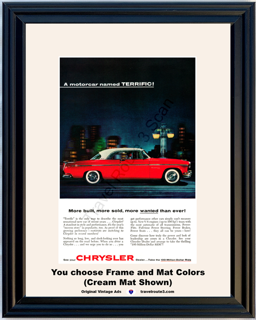 1955 55 Chrysler Windsor 2 Door Hardtop Red 100 Million Dollar Ride Vintage Ad