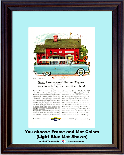1955 55 Chevrolet Chevy Two Ten Handyman 210 2 Door Station Wagon Handy Man Antique Shop Vintage Ad