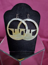 Mother of Pearl Cutout Earrings