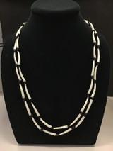 Two Strand Dentalium Black Necklace