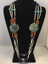 Blue Three Strand Necklace