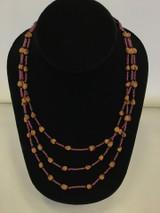 Three Strand Graduating Cedar Berry Necklace