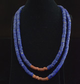 Lapis and Pipestone Heishi Necklace