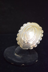 Silver Conch Style Ring