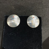 Silver Hopi Button Sunface Earring