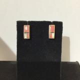Rhodocrisinite & MOP Inlay Earrings
