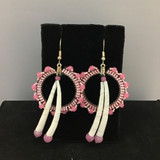 Beaded Hoop  & Dentalium Earrings