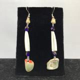 Dentalia & Abalone Earrings