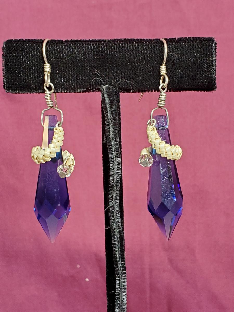 Beargrass Wrapped Crystal Earrings