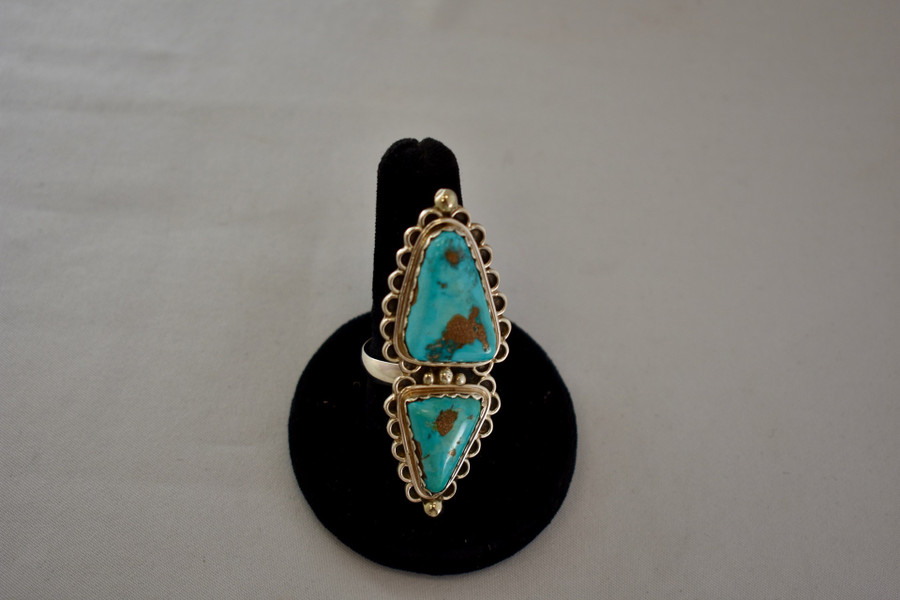 Godber Turquoise Triangle Adjustable Ring